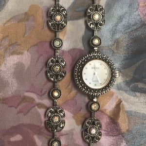 Benrus Marcasite Watch and Matching Bracelet